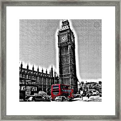 Edited Photo, May 2012 | #london Framed Print by Abdelrahman Alawwad