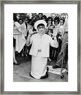 Edith Head, Leaving Hand Prints Framed Print by Everett