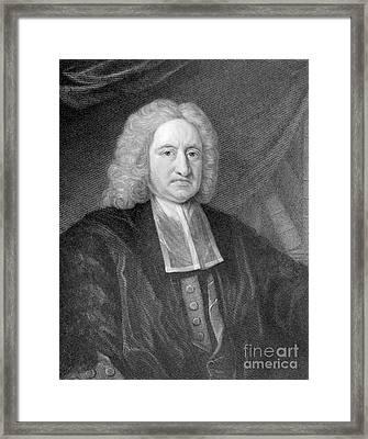 Edmond Halley, English Polymath Framed Print by Photo Researchers