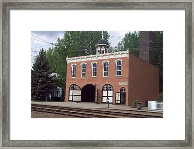Edmonton Fire Station Framed Print by Dart Wooden