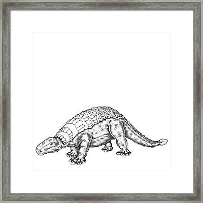 Edmontonia - Dinosaur Framed Print by Karl Addison