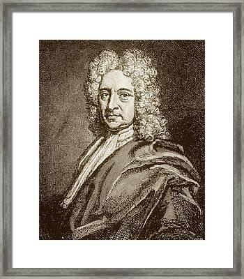 Edmund Halley, English Astronomer (1656-1742) Framed Print by Dr Jeremy Burgess.