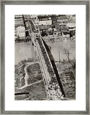 Edmund Pettus Bridge In Selma Alabama Framed Print by Everett
