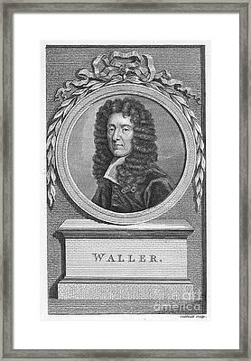 Edmund Waller (1606-1687) Framed Print by Granger