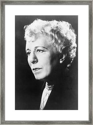Edna Ferber 1887-1968 American Novelist Framed Print by Everett