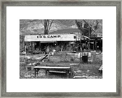 Ed's Camp Framed Print