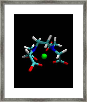 Edta Molecule With Magnesium Ion Framed Print