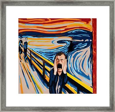 Edvard Munch - The Scream Framed Print by Dennis McCann