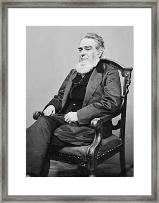 Edward Bates 1793-1869, Former Whig Framed Print by Everett