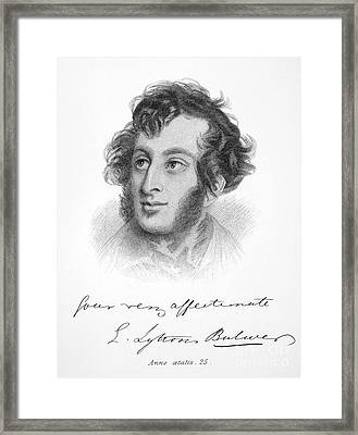 Edward Bulwer Lytton Framed Print by Granger