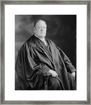 Edward D. White 1845-1921, Ninth Chief Framed Print