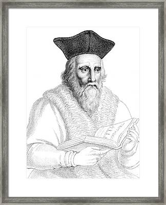 Edward Kelley, English Alchemist Framed Print by Science Source