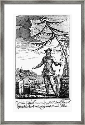 Edward Teach (?-1718) Framed Print by Granger