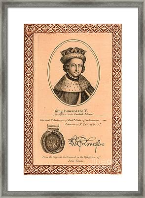 Edward V (1470-1483) Framed Print by Granger