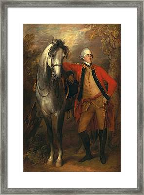 Edward Viscout Ligonier Framed Print by Thomas Gainsborough