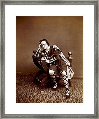 Edwin Booth 1833-1893, American Actor Framed Print