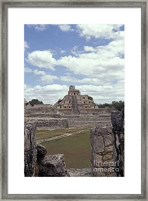 Edzna Mayan Ruins Framed Print by John  Mitchell