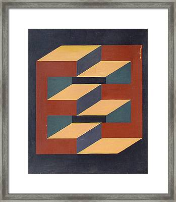Ee In Optical Illusion Framed Print