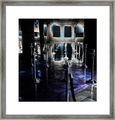 Eerie Waiting Area Framed Print by Catherine Morgan