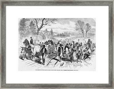 Effects Of Emancipation Proclamation Framed Print