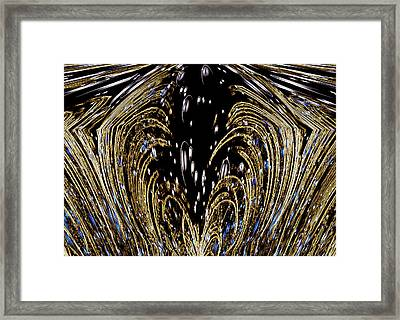 Effervescent Golden Arches Abstract Framed Print
