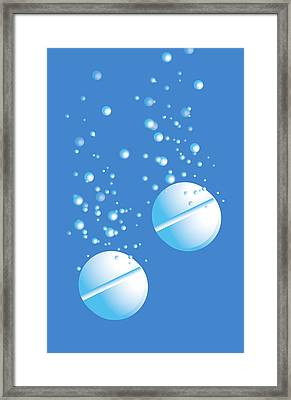 Effervescent Tablets Framed Print by David Nicholls