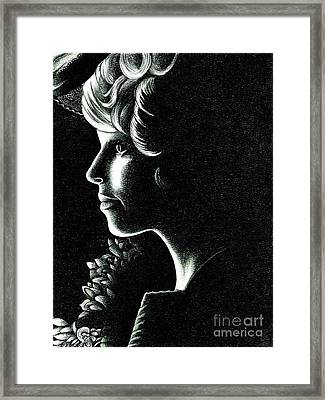 Effie Trinket Framed Print
