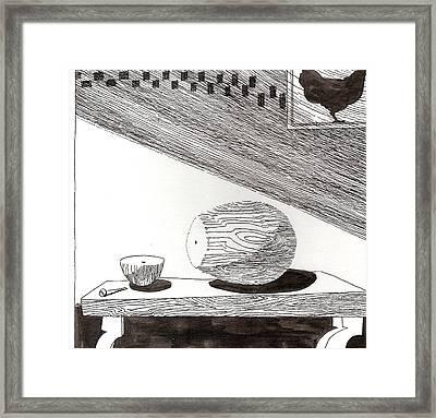 Egg Drawing 019613 Framed Print