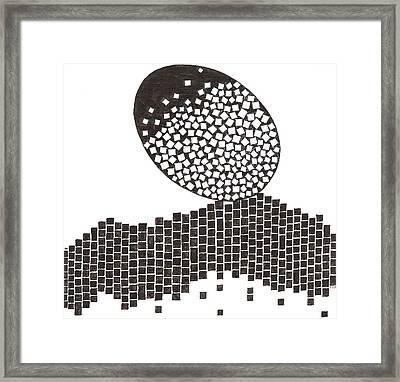 Egg Drawing 019901 Framed Print