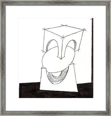 Egg Drawing 030009 Framed Print