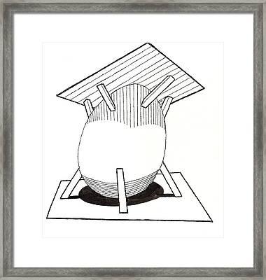 Egg Drawing 030037 Framed Print