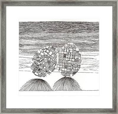 Egg Drawing 039620 Framed Print
