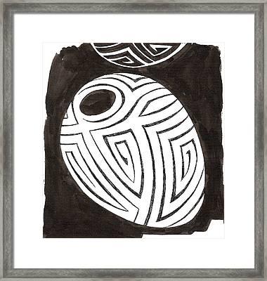 Egg Drawing 039917 Framed Print