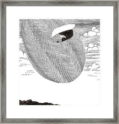 Egg Drawing 040003 Framed Print