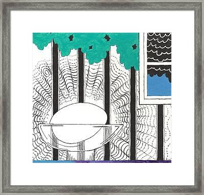 Egg Drawing 040249 Framed Print
