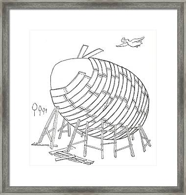 Egg Drawing 049901 Framed Print