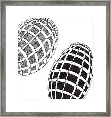 Egg Drawing 060026 Framed Print