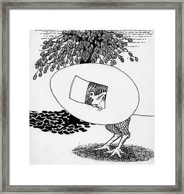 Egg Drawing 070245 Framed Print