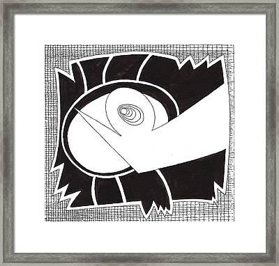 Egg Drawing 079725 Framed Print