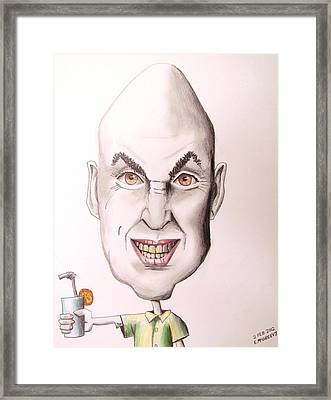 Egghead On Vacation Framed Print by Eric McGreevy