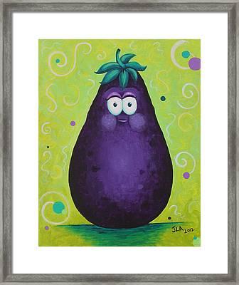 Eggplant Framed Print by Jennifer Alvarez