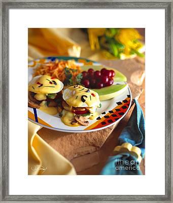 Eggs Benedict Breakfast Framed Print by Vance Fox