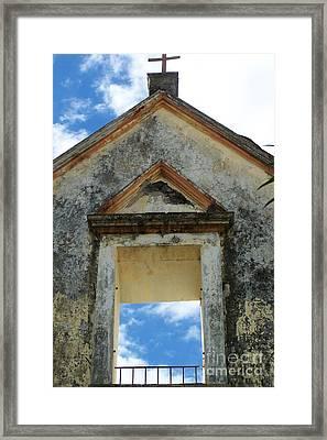 Eglise - Ile De La Reunion Framed Print by Francoise Leandre