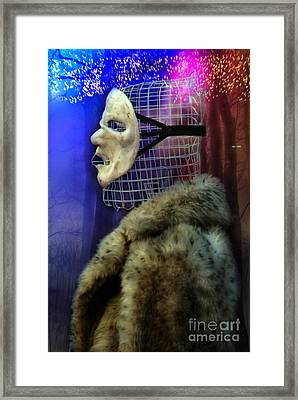 Ego Mask In Winter Wrappings Framed Print