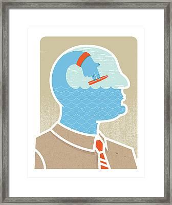Ego Surfing Framed Print by All images © Tyler Garrison, 2009.