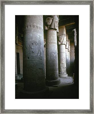 Egypt: Temple Of Hathor Framed Print