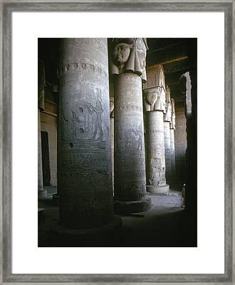 Egypt: Temple Of Hathor Framed Print by Granger