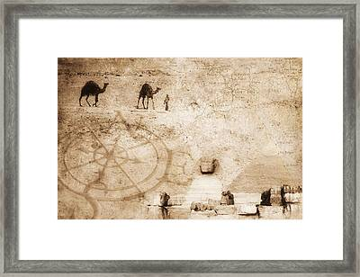 Egyptian Collage Framed Print by Chris Knorr