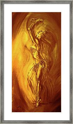 Egyptian Dancer 1 Framed Print by Christo Wolmarans