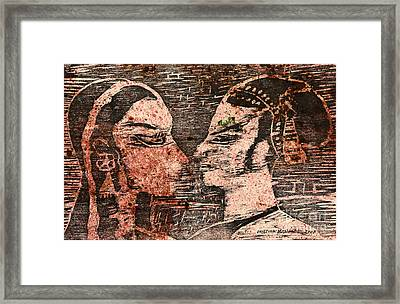 Egyptian Love  Framed Print by Cristina Movileanu